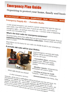 Email discusses emergency radios.