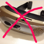 Small emergency radio with red x showing it's not to be recommended.