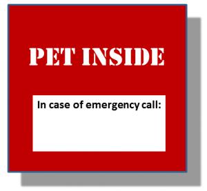 """Window card """"Pet Inside"""""""